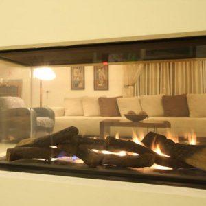 קמין גז - Room divider 1500